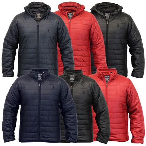 Mens Lightweight Quilted Jacket by Mens Jacket Soul Coat Padded Quilted Hooded Funnel