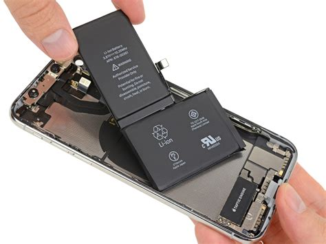 most ram in a phone iphone x teardown 3gb ram two cell 2 716 mah battery