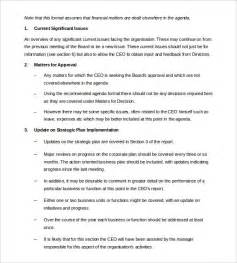 board meeting report template 13 board report templates free sle exle format