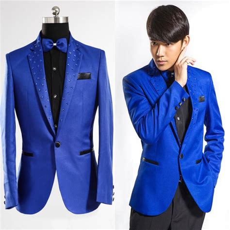 mebosya 2016 top brand fashion men s suit jacket slim royal blue tuxedo men fashion 2016 brand clothing suit