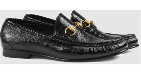 gucci 1953 horsebit loafer sale gucci 1953 horsebit patent leather loafer in black for