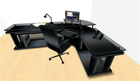 Black Corner Office Desk by Second Marketplace Led Midnight Black Corner Office