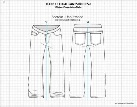 free jeans pattern illustrator mens illustrator flat fashion sketch templates
