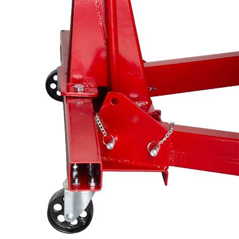 folding engine crane stand hoist lift jack  tonne  kg garage masterpro