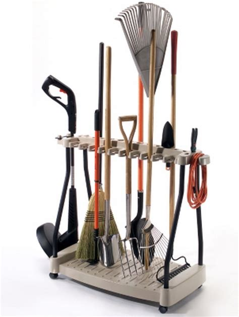 Tool Storage Rack by New Garden Outdoor Tools Storage Rack Holder Rake Shovel