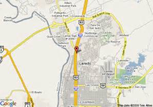 where is laredo on the map map of hton inn laredo laredo