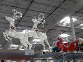 outdoor decorations santa and reindeer costco lighted outdoor decorations in november