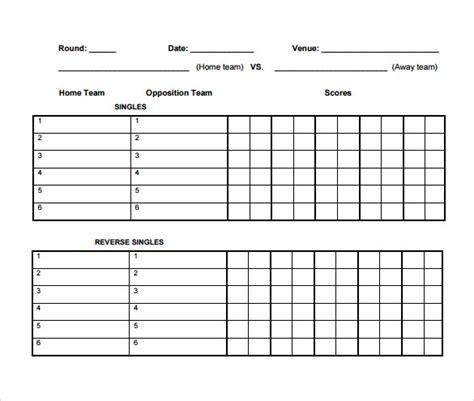 card score sheet template basketball score sheet template