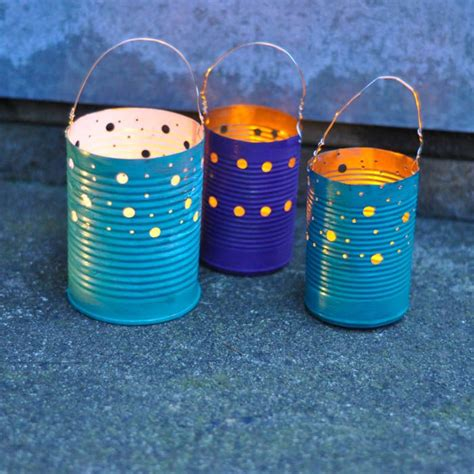 upcycle cans upcycled tin can luminaries