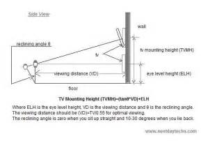 Recommended Height Wall Mount Tv Bedroom At What Height Should Your Flat Screen Be Mounted