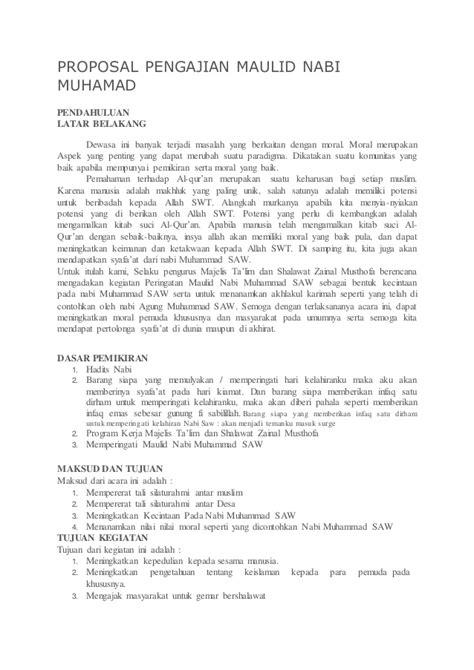 proposal maulid nabi proposal pengajian maulid nabi muhamad
