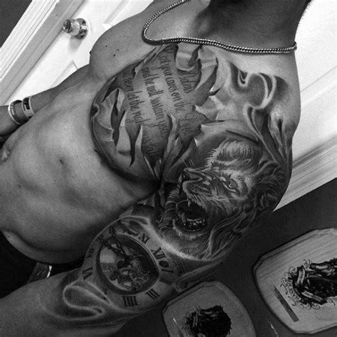 arm and chest tattoos for men top 70 coolest tattoos for masculine design ideas