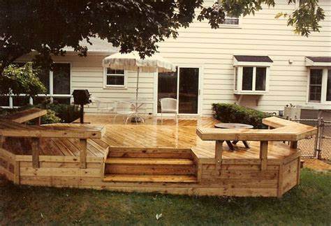 decks with benches 17 best images about sprucing up the outside on pinterest garden borders decks and