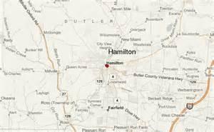 Map Of Hamilton Ohio by Hamilton Ohio Location Guide