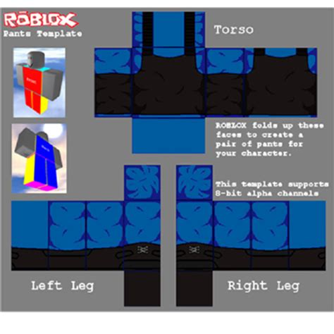 pants template uniform roblox