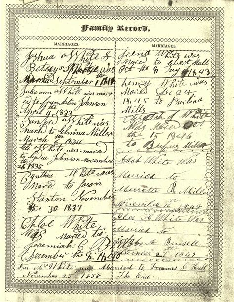 Delco Records Joshua White Bible Record Delaware County Ny Genealogy