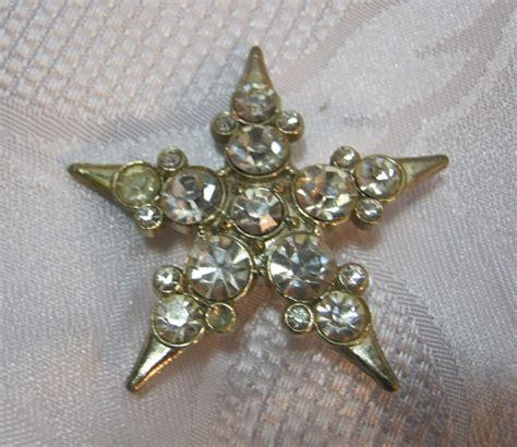 rhinestone brooch vintage costume jewelry deco ebay