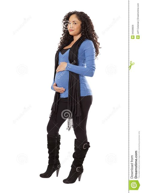 woman in winter clothing pregnant woman in winter clothing royalty free stock
