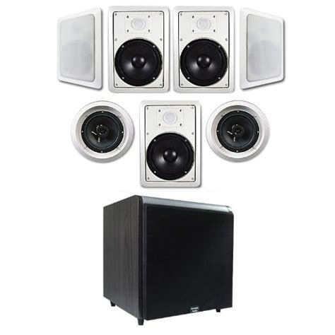 7 1 in wall ceiling 6 5 speaker system ht 67 w black 12