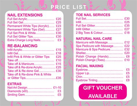 Nail Salon Prices by Nails Hanham 31 Regent