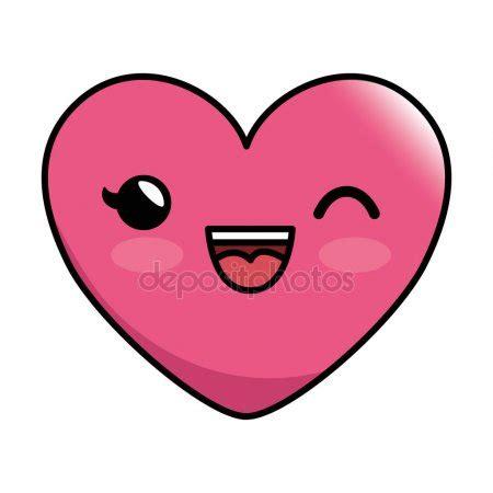 imagenes de kawaii emoticons icono de estilo emoticon coraz 243 n kawaii vector de stock