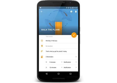 Today Calendar Pro Android Developer Makes Walk The Plank