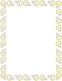 light border a page border featuring light bulbs free downloads at