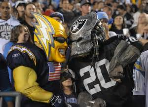 afcw history raiders v chargers bitter rivals