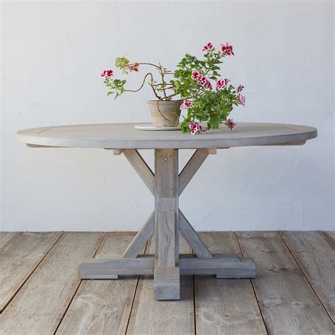 Teak Outdoor Dining Table And Wicker Chairs ? Home Ideas