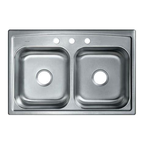 moen 2200 series drop in stainless steel 33 in 3