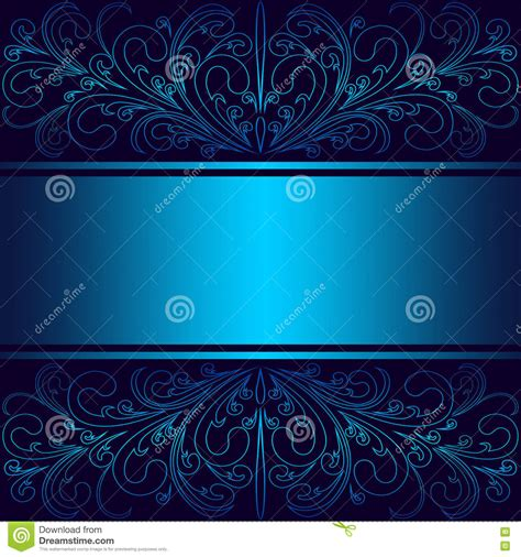 luxury blue background  elegant floral borders