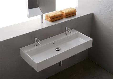 rubinetti alti lavabo appoggio lavabo 100 x 46 cm teorema 100r b