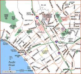 road map of santa santa california