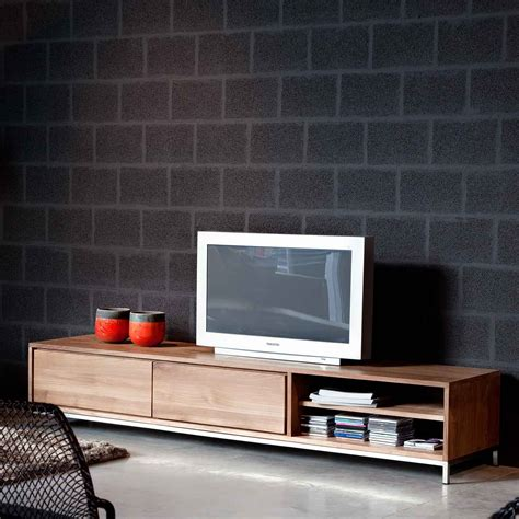 Kitchen Drawer Design ethnicraft essential teak tv cupboard solid wood furniture