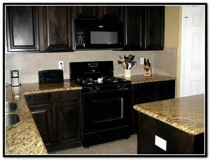 Dark Kitchen Cabinets With Black Appliances espresso kitchen cabinets with black appliances home design ideas