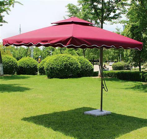 Large Cantilever Patio Umbrella 3m Square Cantilever Outdoor Umbrella