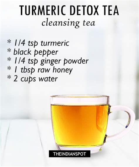 And Turmeric Detox Tea by Morning Detox Tea Recipes For Healthy And Glowing