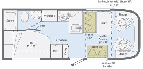 winnebago floor plans winnebago trend class c rv dealer washingtons rv dealer