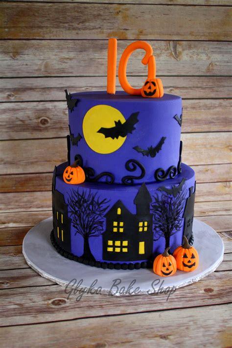 halloween themes birthday halloween theme birthday cake 6 round over 8 round handcut