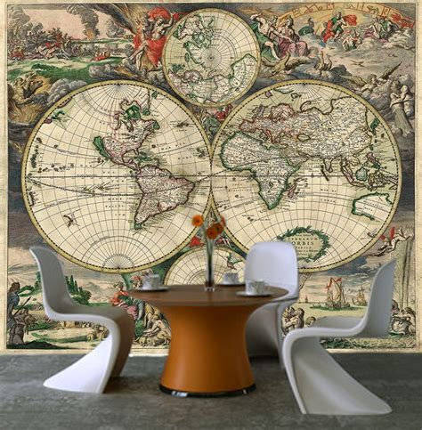 peel and stick wall mural self adhesive world map decorating photo wall mural