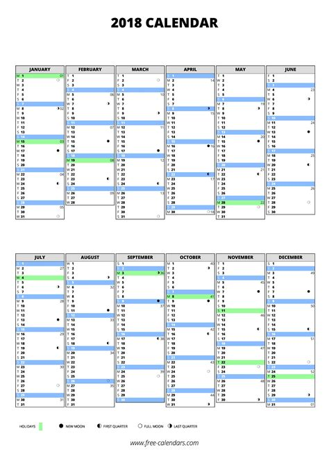 free 2018 yearly calendar download printable yearly calendar templates