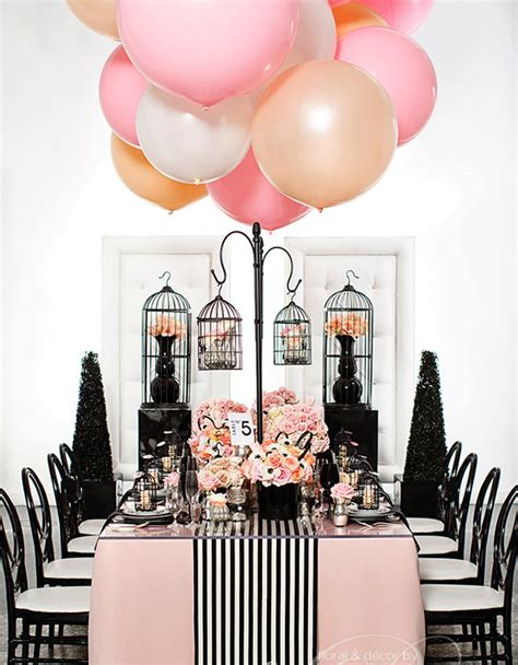 black and white bridal shower centerpiece ideas top trend for 2015 bridal shower balloon decors