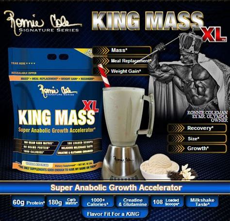 Rc Ronnie Coleman King Mass Xl 15 Lbs Original Formula Kingmass ronnie coleman king mass 15lbs ganadores de peso protein nutrition nutrici 243 n deportiva