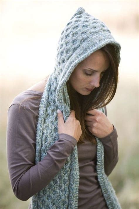 knit hooded scarf pixie scarf knit one purl two