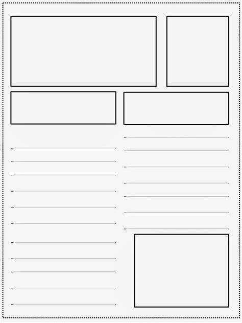 Magazine Blank Template the 4th grade journey tried it tuesday teaching text