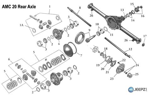 amc 20 axle diagram rear bearing is