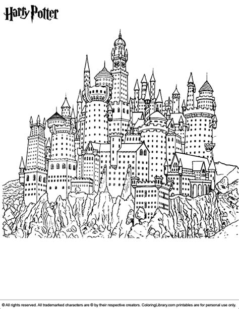 Tissu Imprimé Paysage by Harry Potter Coloring Page Coloriage Harry Potter