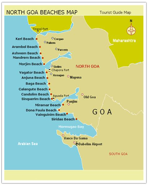 Goa Search Map Of Goa Beaches Search Engine At Search