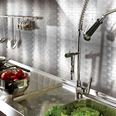 peel and stick kitchen backsplash tiles peel and stick metal backsplash tile for kitchen 12 quot x 12