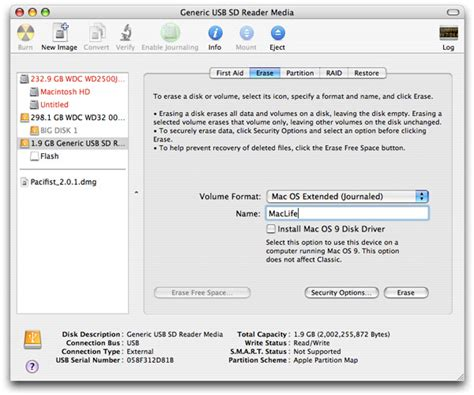 format flash disk mac installing mac os x on a flash drive i